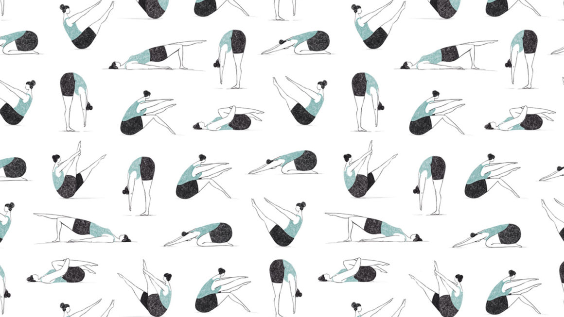 Pilates ladies, a repeat pattern
