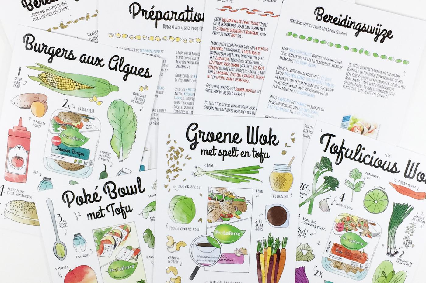 ProLaTerre recipe cards by Annemarie Gorissen