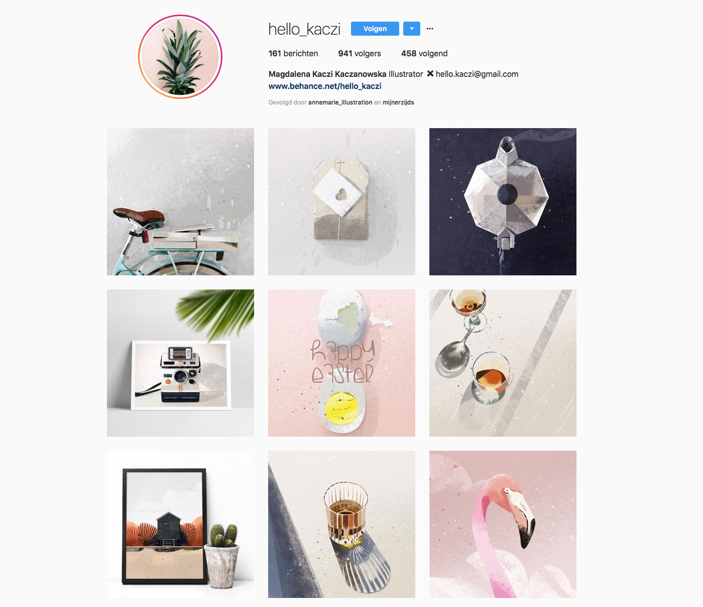 instagram account of Hello_Kaczi