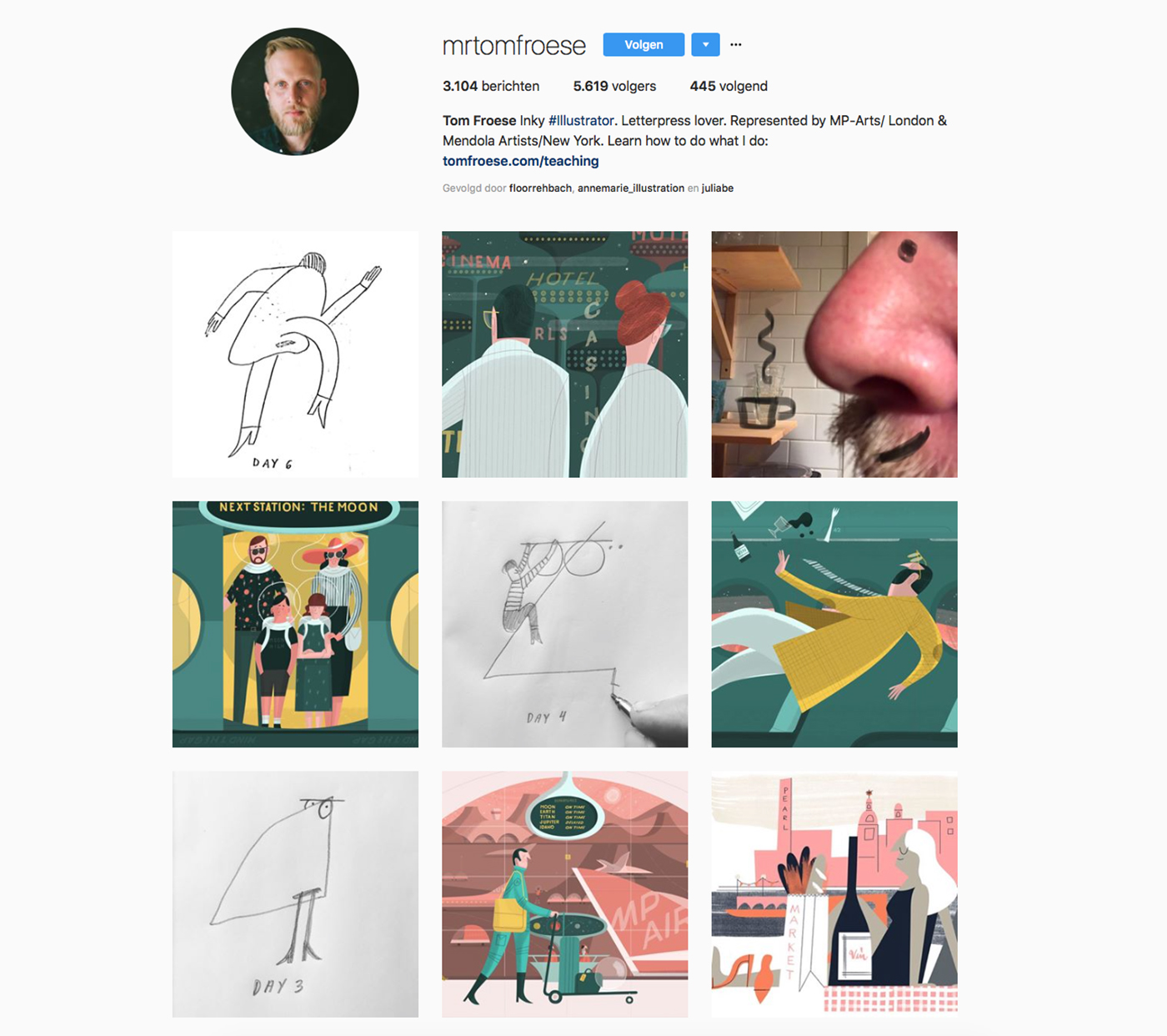 Instagram account of Tom Froese