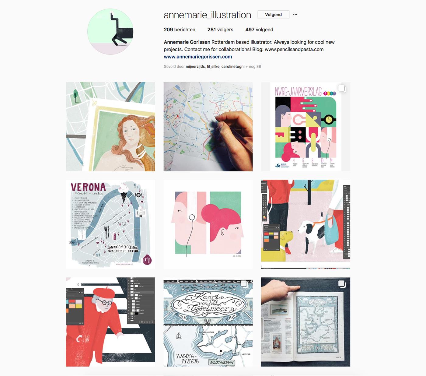 Instagram account of Annemarie Gorissen