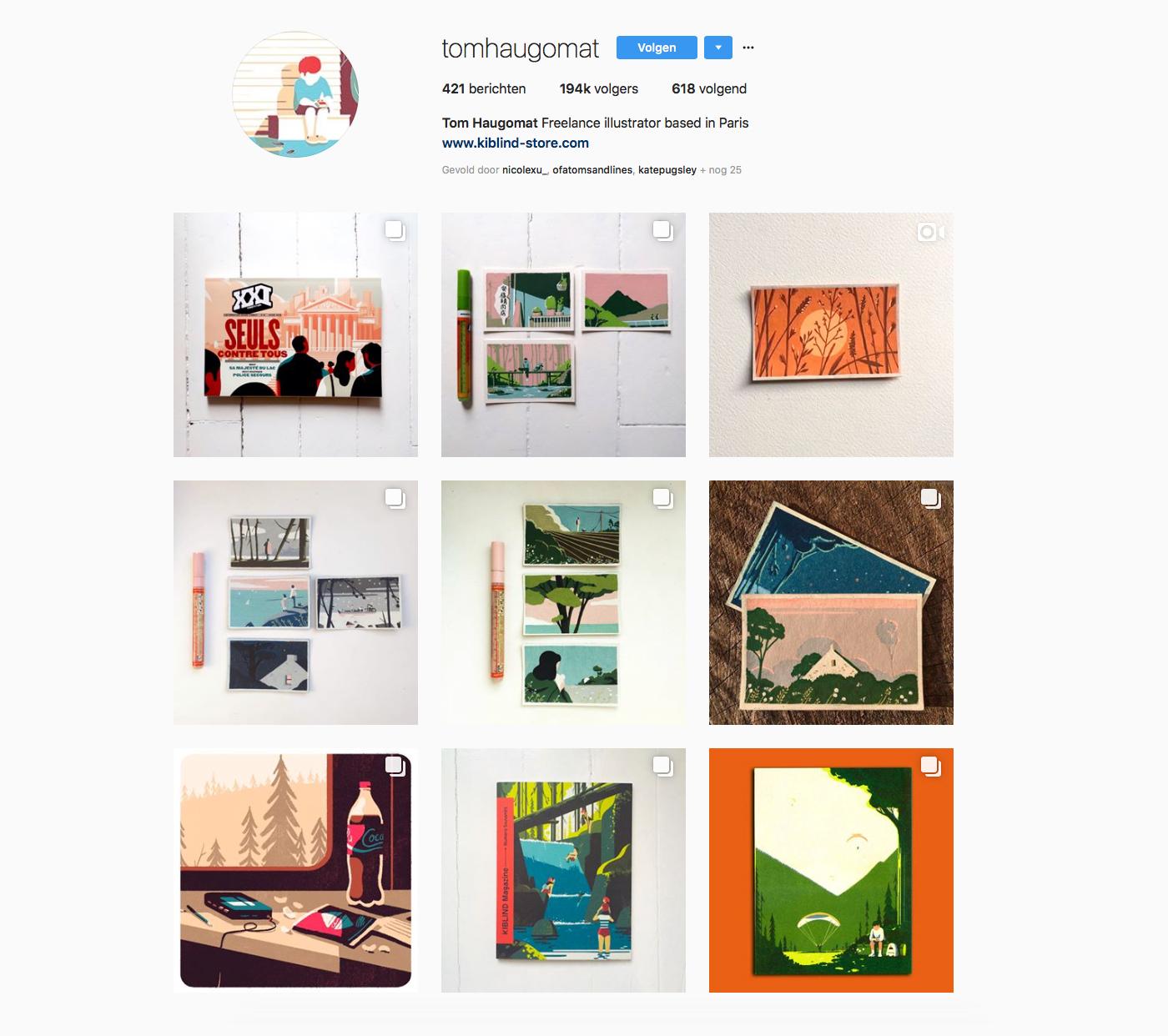 instagram account of Tom Haugomat