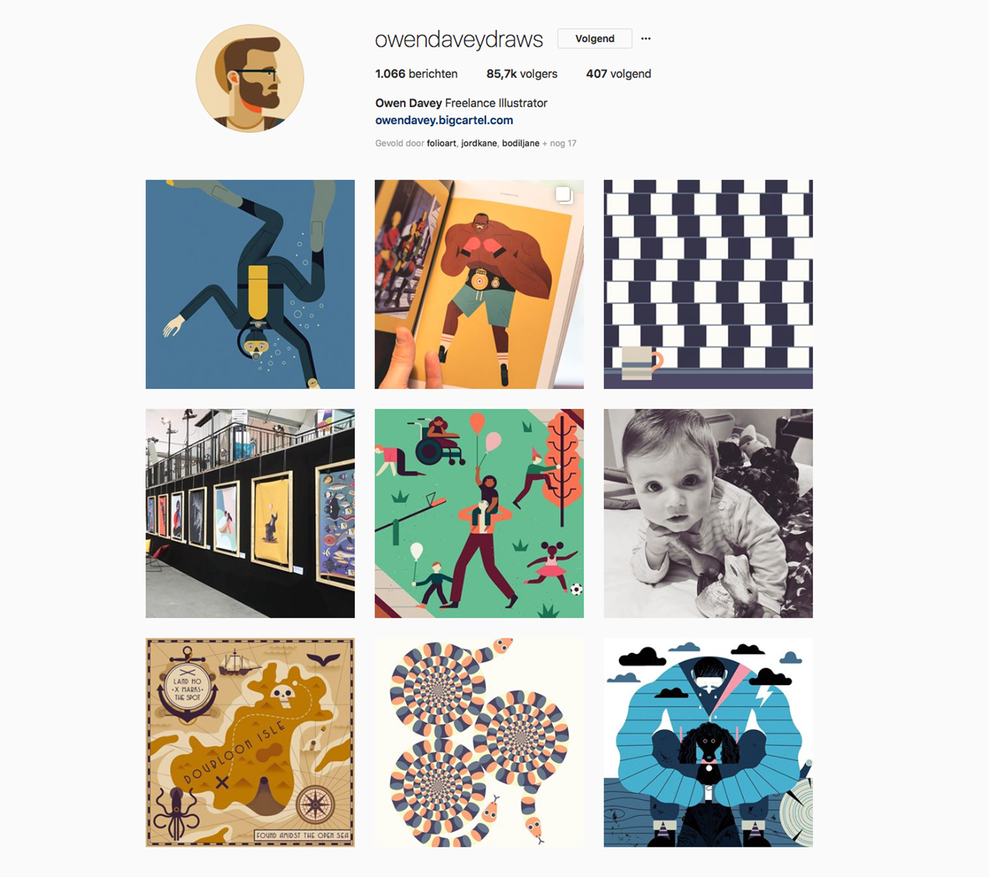 Instagram account of Owen Davey