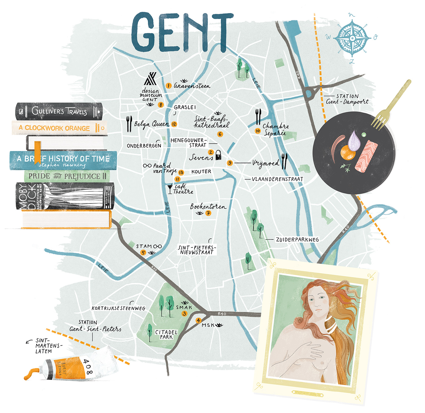 The map of Gent I made for FD Persoonlijk