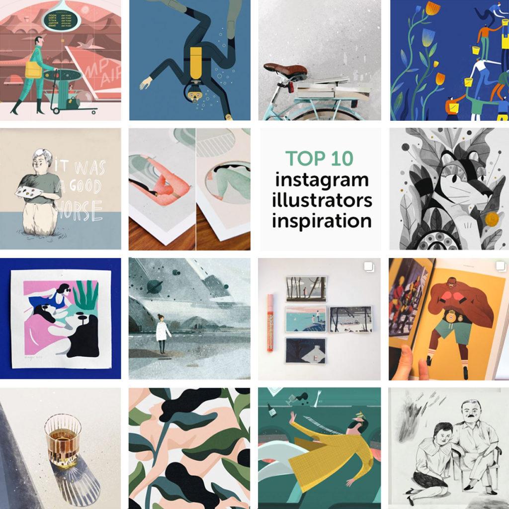 My top 10 instagram illustrators inspiration