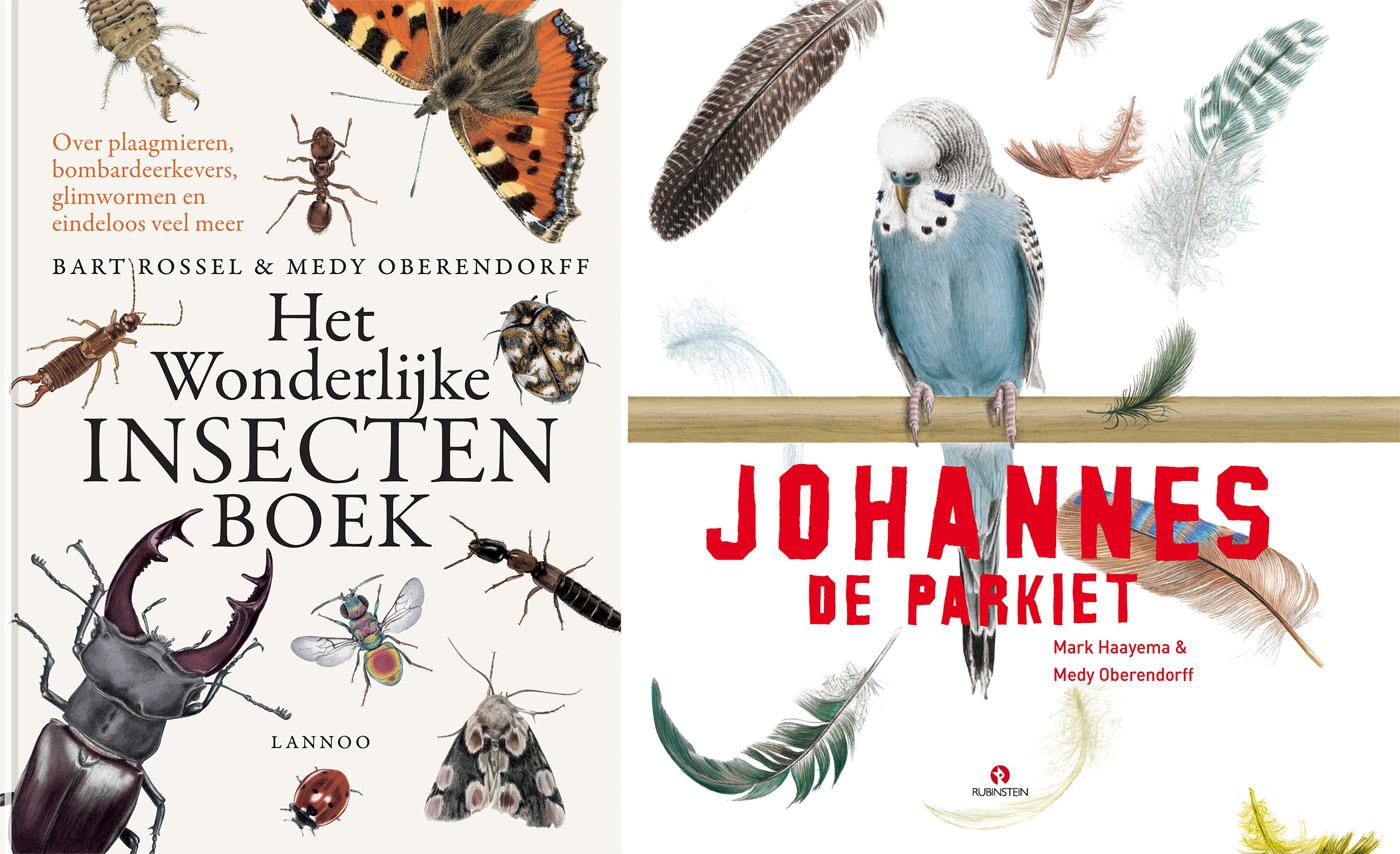 Het wonderlijke insectenboek and Johannes de Parkiet / geïllustreerd door Medy Oberendorff