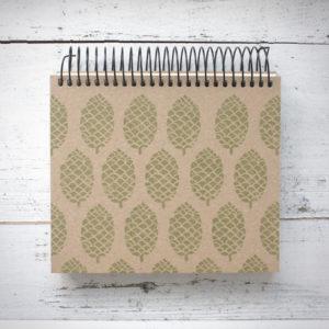 Spiral notebook pinecone by Annemarie Gorissen