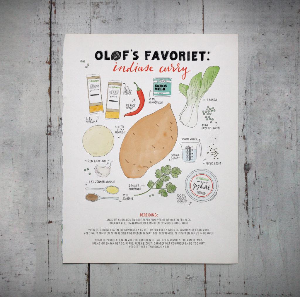 One of the three custom recipes / illustration by Annemarie Gorissen