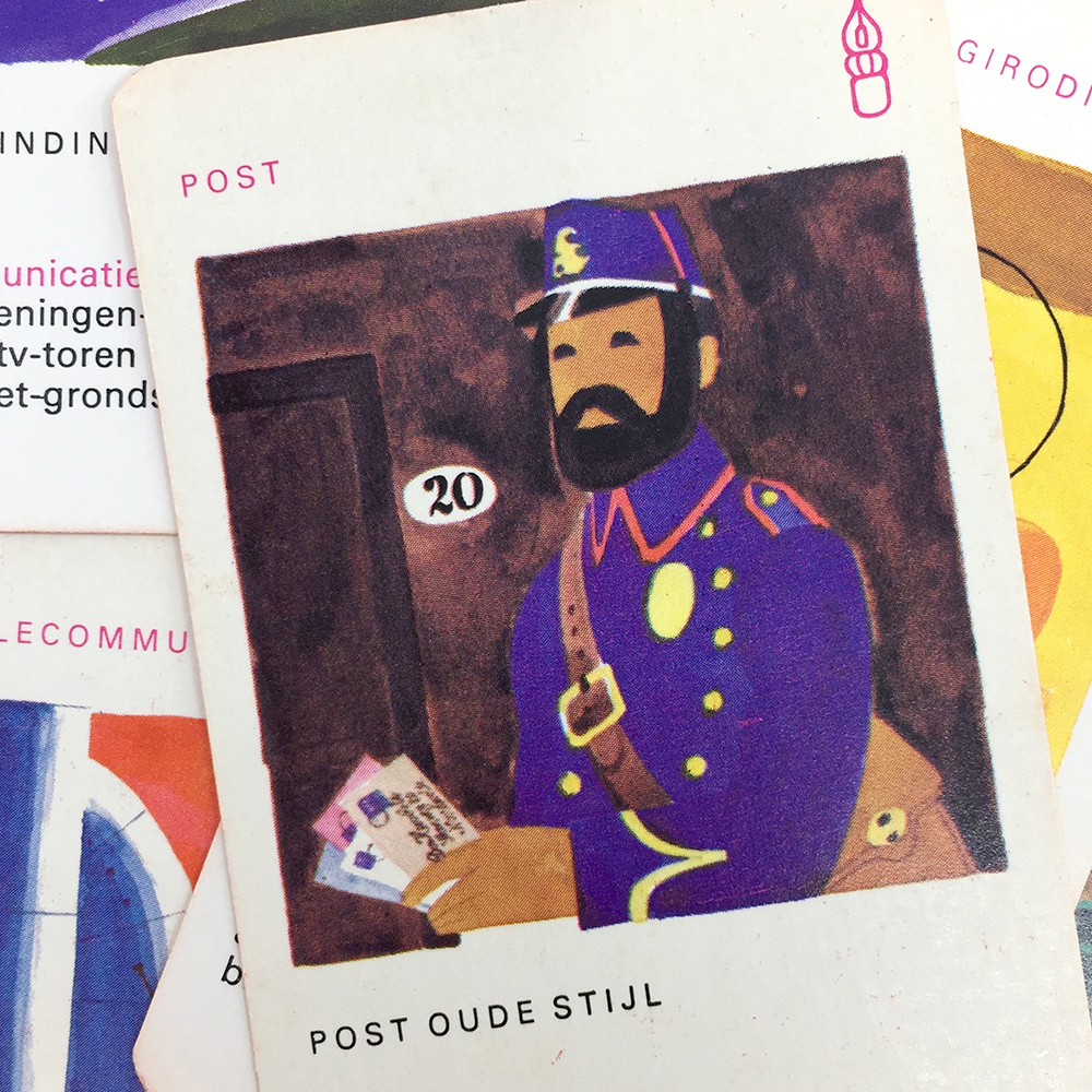 PTT quartet game illustration of a mailman