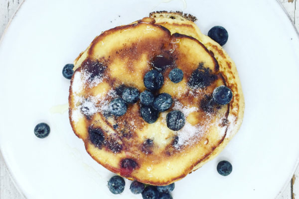 Sunday breakfast: Blueberry Pancakes