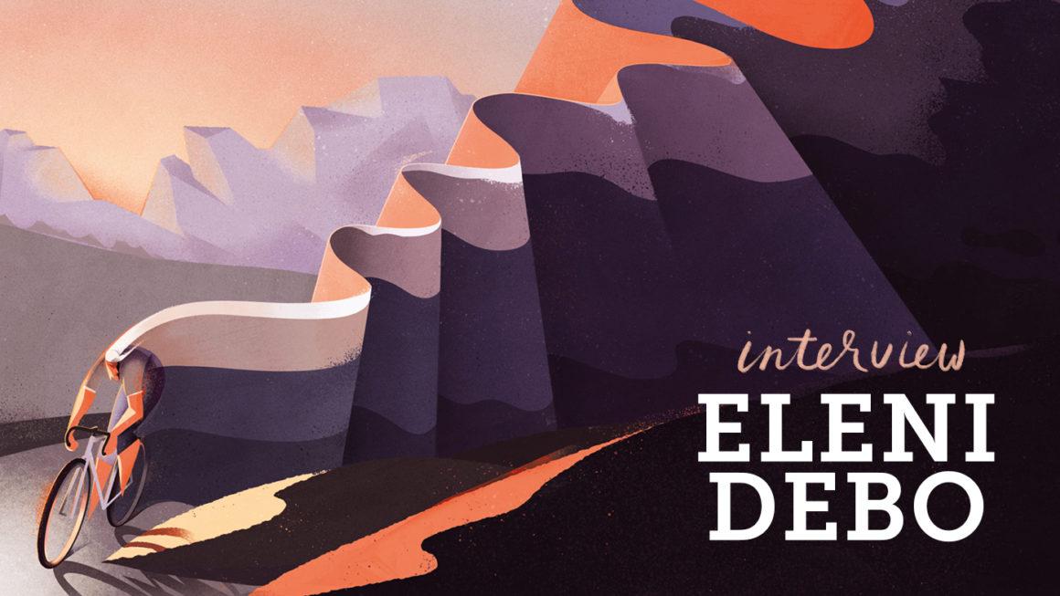 Living the dream: Illustrator Eleni Debo works from the Italian Alps